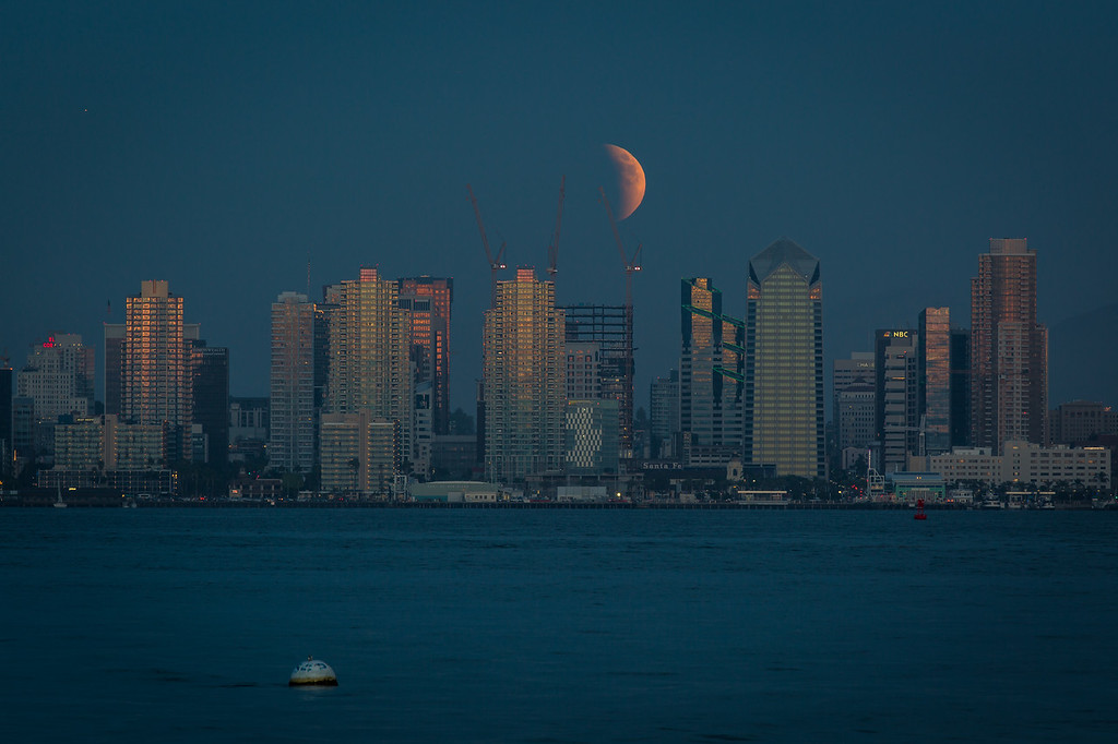 Lunar eclipse as seen from Shelter Island Sept. 27, 2015.